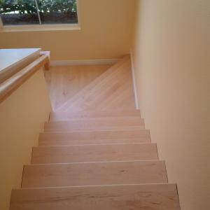 Solid Maple floor installation in san diego. Licensed flooring contractor