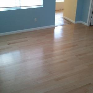 Engineered Maple flooring installed in San Diego by licensed contractor