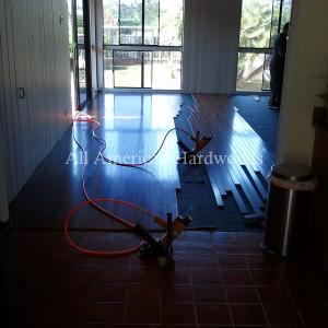 San Diego solid pre finished wood flooring installed. Licensed contractor