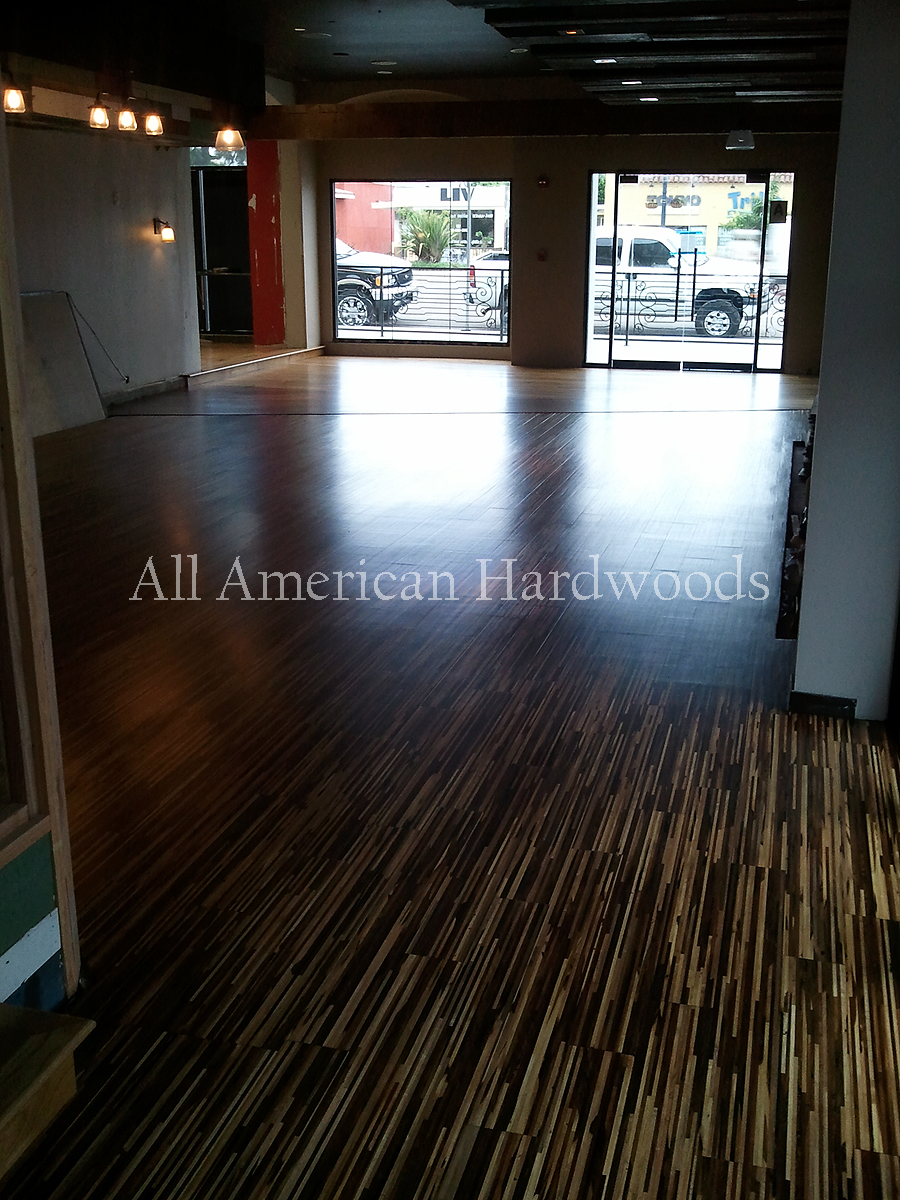 bamboo flooring completely refinished with bona traffic
