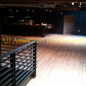 commercial wood floor repair refinishing maintenance by licensed contractor