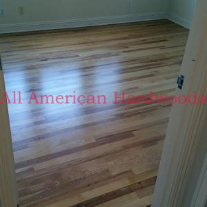 Del Mar wood floor refinishing contractor. Licensed professionals. Yellow Birch
