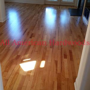 Yellow Birch flooring installed in Del Mar. Licensed flooring contractor SD