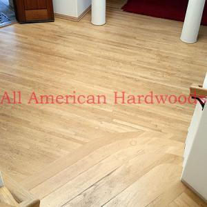 Mission Hills solid oak floor restoration.San diego licensed flooring contractor