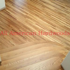 Natural color white oak flooring fully refinished san diego. licensed contractor