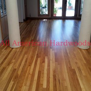 White oak refinishing. Dust free system. Licensed contractor in San Diego