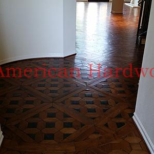 Walnut Parquet restoration. North County San Diego Licensed flooring contractor