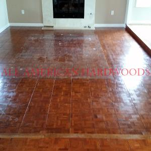 Walnut parquet refinish north county san diego by licensed contractor