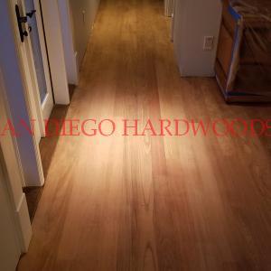 Hickory flooring refinished in San Diego. Refinish wood floors San Diego