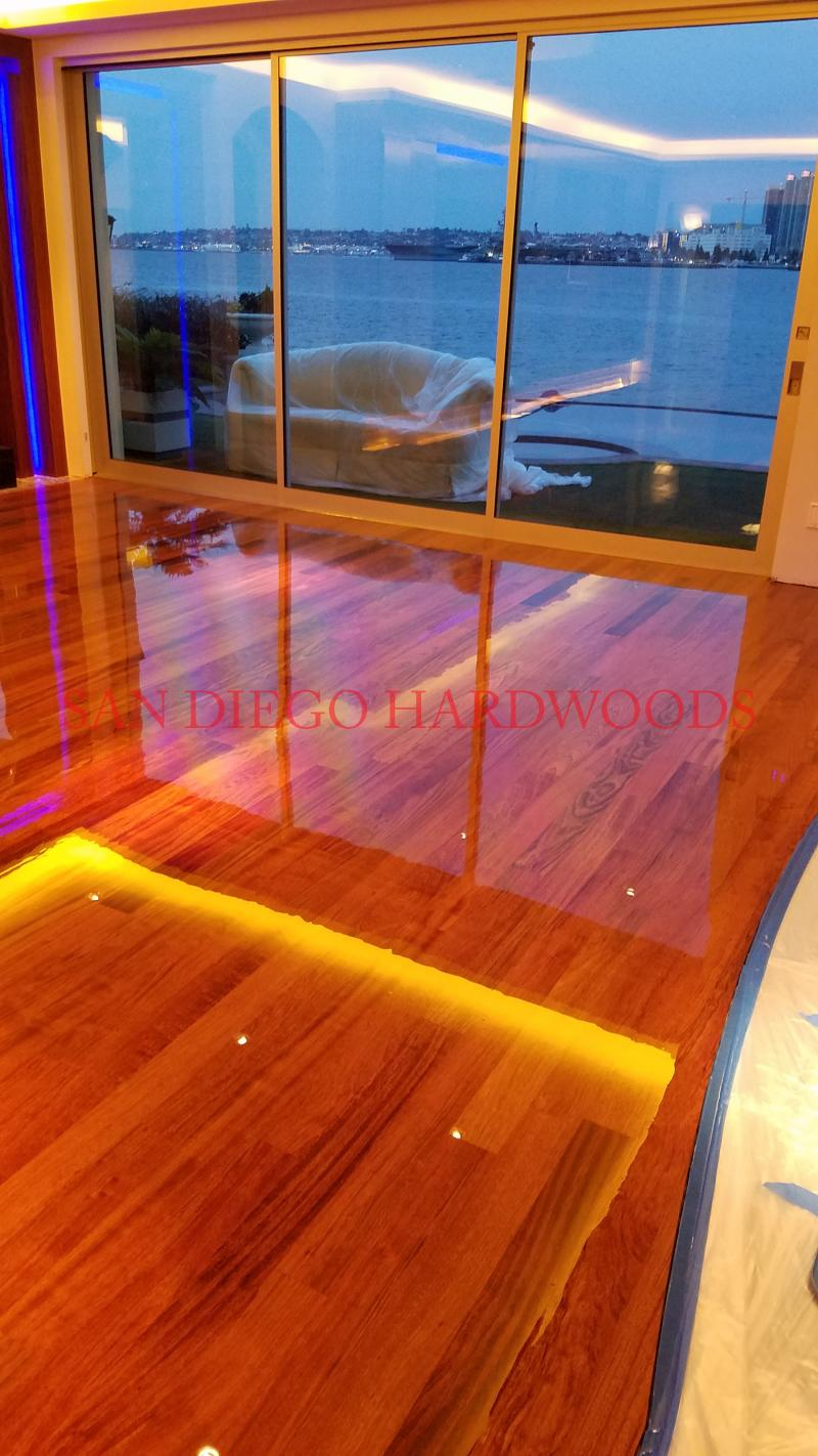 CORONADO WOOD FLOOR REPAIR AND REFINISHING WITH DUST FREE SYSTEM IN SAN DIEGO