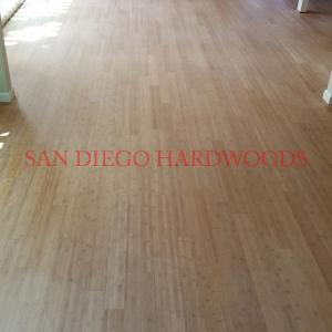 Bamboo flooring refinish in Encinitas. San Diego bamboo floor refinish repair