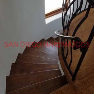 Refinish solid hardwood stairs in mission hills san diego. Bona Traffic finish