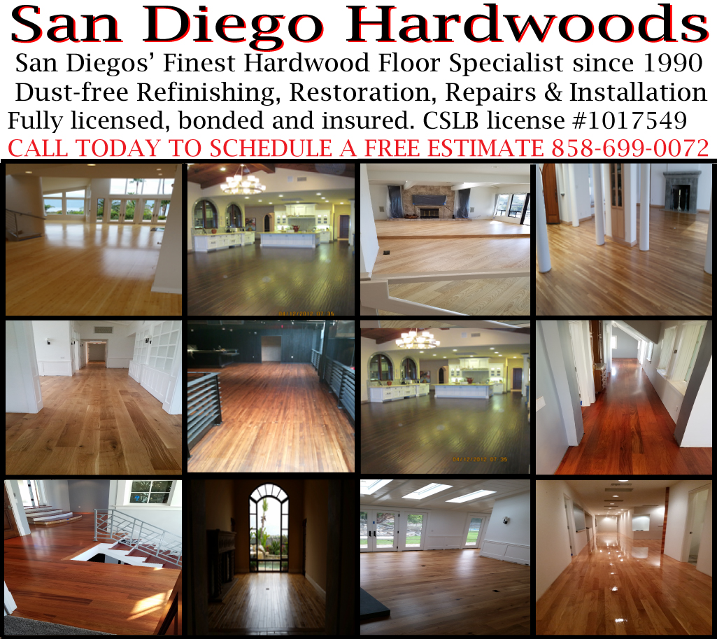wood floor refinishing san diego. install wood floors san diego. contractor