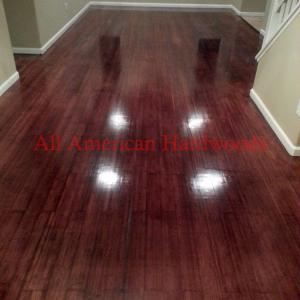 Bamboo Floor refinishing San Diego. Custom staining. Licensed Conractor