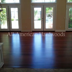 Cherry Floor refinishing in San Diego. Licensed flooring contractor San Diego