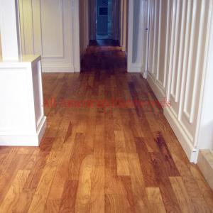 Rancho Sante Fe engineered wood floor repair and refinish. Licensed contractor
