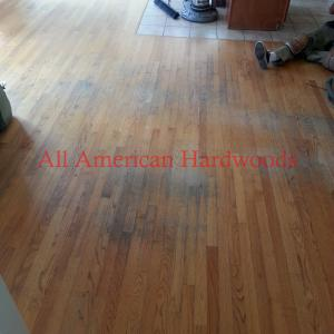 Solid oak floor repair and refinishing in Del Mar. Licensed Contractor San Diego